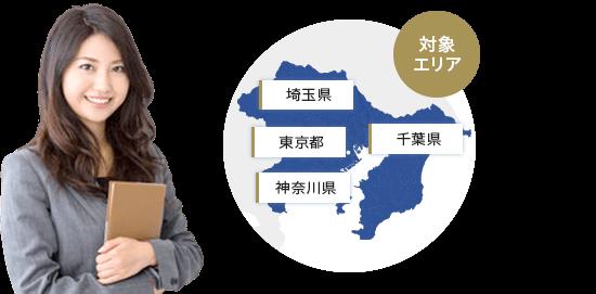 対象エリア/埼玉県/東京都/千葉県/神奈川県